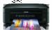 Цены на МФУ Epson Stylus SX235W Аппарат обеспечит оптимальное качество распечатанных страниц,   содержащих большой диапазон тонов. При этом он совмещает функции оцифровки и копирования. Выводит отпечатки он посредством 4 - х цветов и скоростью,   которая достигает 30 м
