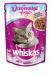 Цены на Whiskas Паучи Whiskas особенный вкус для кошек 85 г (85 г,   Канапе с говядиной и кроликом) Новый год  -  время волшебства,   чудес и праздничного настроения не только для людей. Поэтому мы приготовили кошкам особенный новогодний подарок  -  бефстроганов с говяди