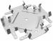 Цены на Соединитель Кнауф Одноуровневый Тип: Соединитель одноуровневый.Назначение: Предназначен для крепления несущих отрезков потолочного профиля к основным профилям в подвесном потолке П 113.Технические характеристикиГабаритные размеры: 148х56х20 мм,   толщина 1