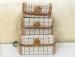 Цены на Шкатулка 4 предметная h2 - 4 - 006 Светло - коричневая с черным Набор шкатулок из бамбука состоит из 4 отдельных шкатулочек. Прекрасно подходит для подарка как одному человеку,   так и разным людям. Хорошо подходит для бижутерии и хранения разных мелочей. Каждая