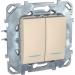 Цены на Выключатель двухклавишный с подсветкой Schneider Electric UNICA бежевый MGU5.0101.25NZD