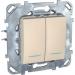 Цены на Переключатель двухклавишный с подсветкой Schneider Electric UNICA бежевый MGU5.0303.25NZD