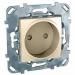 Цены на Электрическая розетка без заземления со шторками винтовой зажим Schneider Electric UNICA бежевая MGU5.033.25ZD