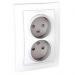 Цены на Электрическая розетка 2 гнезда литая без заземления со шторками винтовой зажим Schneider Electric UNICA белая MGU23.063.18D