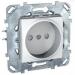 Цены на Электрическая розетка без заземления со шторками винтовой зажим Schneider Electric UNICA белая MGU5.033.18ZD