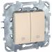 Цены на Выключатель для управления рольставнями нажимной Schneider Electric UNICA бежевый MGU5.207.25ZD