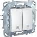 Цены на Выключатель для управления рольставнями Schneider Electric UNICA белый MGU5.208.18ZD