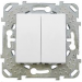 Цены на Выключатель двухклавишный Schneider Electric UNICA белый MGU5.211.18ZD