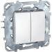 Цены на Переключатель двухклавишный Schneider Electric UNICA белый MGU5.213.18ZD