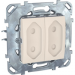 Цены на Электрическая розетка для узких вилок двойная без заземления со шторками Schneider Electric UNICA бежевая MGU5.3131.25ZD