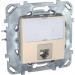 Цены на Компьютерная розетка с полем для надписи Schneider Electric UNICA бежевая MGU5.425.25ZD