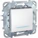 Цены на Выключатель кнопочный с подсветкой Schneider Electric UNICA белый MGU5.206.18NZD