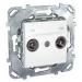 Цены на Телевизионная розетка TV - FM Schneider Electric UNICA белая MGU5.451.18ZD