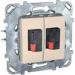 Цены на Аудио розетка двойная Schneider Electric UNICA бежевая MGU5.8787.25ZD