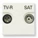 Цены на Телевизионная розетка TV - R - SAT ABB Niessen Zenit одиночная с накладкой Альпийский белый N2251.3 BL