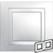 Цены на Рамка 2 поста с декоративным элементом Schneider Electric UNICA белая MGU2.004.18