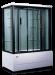 Цены на Душевая кабина LanMeng (ЛанМенг) LM838TG прямоугольная с ванной,   с глубоким поддоном,   размер 158х85 см 158х85х213 см Стиль «хай тек»,   ручное управление функциями,   мощное ударопрочное стекло,   надежный поддон с антискольжением,   удобное сиденье. LanMeng LM83