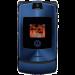 Цены на Motorola Motorola RAZR V3i Blue 1094~01 Для всех ценителей необычного подхода к дизайну и внешнему оформлению телефонов предназначена сверхпопулярная модель Motorola V3i в стильном корпусе. Этот раскладной аппарат с двумя дисплеями,   основной из которых им