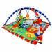 Цены на La - Di - Da Развивающий коврик La - Di - Da Веселый Зоопарк PM - A - P00019 2 дуги с 5 мягкими развивающими игрушками: плюшевый лев с погремушкой,   пластиковая игрушка тигренок,   развивающая книжка,   зеркало - игрушка. пластиковая игрушка клубничка Рекомендуется деликатн