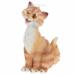 Цены на Фигура декоративная садовая Забавный рыжий кот L13W13H26 см