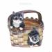 Цены на Кашпо декоративное Котята в корзине,   H20 D16 см