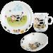 Цены на Seltmann Weiden Сервиз детский 3 предмета (кружка,   тарелка 20 см,   салатник 16 см),   фарфор,   декор Kuhe Салатник,   16 см  -  1 шт.