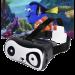 Цены на Шлем виртуальной реальности VR Panda Шлем виртуальной реальности VR Panda  -  это полноценный функциональный шлем с шутливым внешним видом.