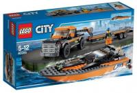 LEGO City 60085 Внедорожник 4х4 с гоночным катером