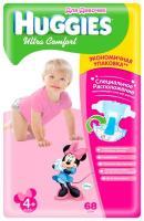 Huggies Ultra Comfort для девочек 4+ (68 шт.)
