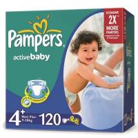 Pampers Active Baby Maxi Plus 4+ (120 шт.)