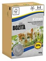 Bozita Feline Kitten кусочки в желе с курицей 190 г