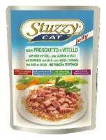 Stuzzy Cat консервы для кошек с ветчиной и телятиной в желе 100 гр