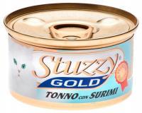 Stuzzy Gold консервы для кошек кусочки тунца с крабовыми палочками в собственном соку 85 гр